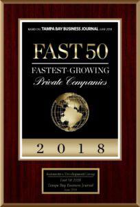 Tampa Bay's 2018 Fast 50 Award