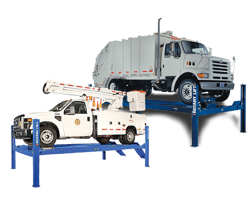 rotary lift 4 post car and truck auto lift